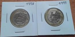 LSJP BRAZIL 1 REAL SCARCE COINS 1998/1999 - Brazil
