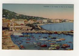 Magnifique CPA Colorisée Années 1930 :cannes Le Casino Le Port Et La Croisette - Cannes