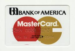 Bank Of America USA MasterCard MASTERCARD Expired 1984 - Cartes De Crédit (expiration Min. 10 Ans)