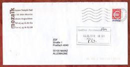Brief, Eurozeichen, MS Angouleme, 1999 (73374) - Poststempel (Briefe)