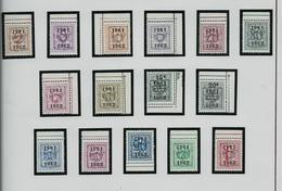 PRE 712/724   (année 1961/62)  ( état: **) - Typo Precancels 1951-80 (Figure On Lion)