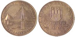 02442 MEDAL COMMEMORATIVE EINWEIHUNG KÖHLBRANDBRÜCKE SEPTEMBER 1974 - Germany