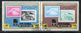 "DPRK (NORTH KOREA) 1980 2047-2048 50th Anniversary Of The Arctic Flight Of The Airship ""Graf Zeppilin"" - Polar Flights"
