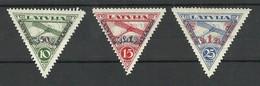 LETTLAND LATVIA 1931 Michel 190 - 192 A * - Latvia