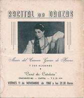 "FLAMENCO - Recital De Danza MARIA Del CARMEN GUERRA De HERRERA ""Casal De Cataluña"" - Programa 1960' - Programas"
