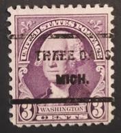 USA - Scott #720 – Precansel Three Oaks, Michigan (1931) - United States