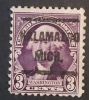 USA - Scott #720 – Precansel Kalamanzoo, Michigan (1931) - United States