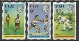 FIJI 1974 COMMONWEALTH GAMES SET MNH - Fiji (1970-...)