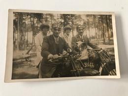 Carte Postale Ancienne  Promenade En Famille (photographie) - Motorbikes