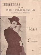 FLAMENCO - Homenaje De La Colectividad Andaluza De Argentina A RAFAEL CAMACHO - Programa 1960' - Programas