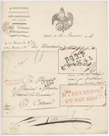 P.82.P. Épinal An 14 - 7.11.1805 Héraldique Direction De L'enregistrement Et Des Domaines - Marcophilie (Lettres)