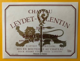 10548 - Château Leydet-Valentin 1981 Saint-Emilion - Bordeaux