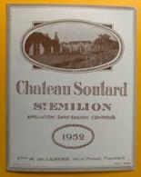 10560 - Château Soutard 1952 Saint-Emilion - Bordeaux