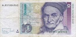 ALLEMAGNE  -  10  DEUTSCHE  MARK  -  Anno  1993 - [13] Bundeskassenschein