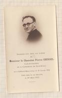 9AL1143 IMAGE PIEUSE MORTUAIRE CHANOINE CHERDEL CATHEDRALE DE SAINT BRIEUC 1955  2 SCANS - Devotion Images