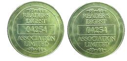 01290 GETTONE TOKEN JETON ADVERTISING READERS DIGEST 04254 ASSOCIATION LIMITED - United Kingdom