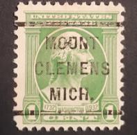USA – Scott #705 – Precancel (DLE) Mout Clemens, Michigan (1932) - United States
