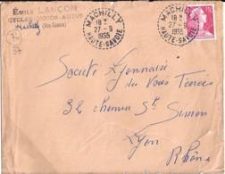 74 - HAUTE SAVOIE - MACHILLY - TàD De Type B7 De 1955 - Marcophilie (Lettres)