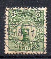 SUEDE - SWEDEN - SVERIGE - 1910 - GUSTAVE V. - GUSTAV V. - 5 ORE - Oblitéré - Used - - Oblitérés
