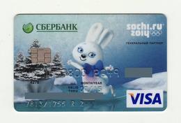 Sberbank RUSSIA Winter Olympic Games SOCHI 2014 VISA Expired - Cartes De Crédit (expiration Min. 10 Ans)