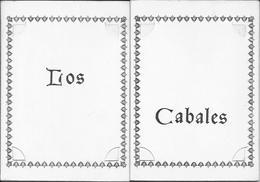 FLAMENCO - LOS CABALES En El Tablao De Plaza Mayor - Programa Con 5 Fotos Desmontables 1960' - Programas