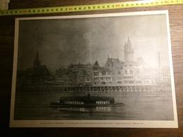 1900 PARIS LE VIEUX PARIS A L EXPOSITION PORTE SAINT MICHEL A L EGLISE SAINT JULIEN EFFET DE NUIT - Vieux Papiers