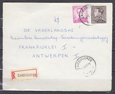 Aangetekend Briefstuk Van Zandvoorde A Naar Antwerpen - 1936-51 Poortman