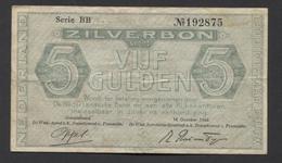 Netherlands 5 Gulden 1944. - Serrie BB - No 192875 - See The 2 Scans For Condition.(Originalscan ) - [2] 1815-… : Reino De Países Bajos