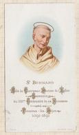 9AL1148 Image Pieuse - SAINT BERNARD Abbe De Clairvaux - Santini