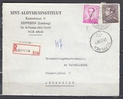 Aangetekend Briefstuk Van Zepperen Naar Antwerpen - 1936-51 Poortman