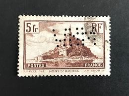 FRANCE M N° 260 MHW 70 Indice 6 Monument Perforé Perforés Perfins Perfin Superbe !! - Perfins