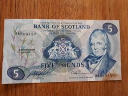 Billet En 5 Livres Ecossaises Du 4/11/1974 En Bon état - Scozia
