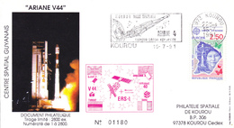 France Ariane V44 Enveloppes ESA - Europe