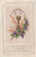 9AL1155 Image Pieuse - DENTELLE MA NOURRITURE EST LE FROMENT DES ELUS - Images Religieuses