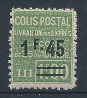 FRANCE - 1928-29 - Colis Postaux - Y.T. N°92 - Livraison Par Exprès - 1 F. 45 Sur 1 F. Vert - Dentelé - Neuf** - TTB - Neufs