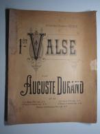 PARTITION 1ere VALSE AUGUSTE DURAND Théodore RITTER 27 X 35 Cm Env - Musique & Instruments
