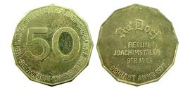 03803 GETTONE TOKEN JETON VENDING BERLIN JOACHIMSTALER 50 - Germany