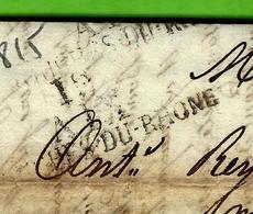 1815 MARQUE POSLE 12 AIX Bouch. Du Rhone  De Abel Frères à Aix Pour Ant. Reynard à Nice COMMERCE NEGOCE VOIR SCANS - 1801-1848: Voorlopers XIX
