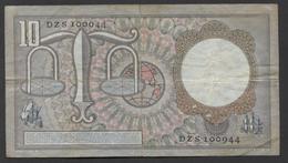 Netherlands 10 Gulden, 1953 Replacement DZS 100944 - See The 2 Scans For Condition.(Originalscan ) - [2] 1815-… : Koninkrijk Der Verenigde Nederlanden