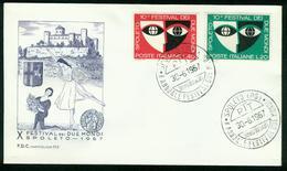FD Italy FDC 1967 MiNr 1235-1236, Two Worlds Festival Spoleto - 6. 1946-.. Repubblica