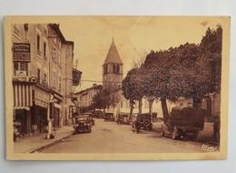 Carte Postale : 69 COURS (Rhône) : Grande Rue, Droguerie Principale, Animé, Voitures Années 1940/1950 - France