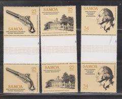 SAMOA Scott # 567-9 MNH - George Washington Gutter Pairs - Creases - Samoa