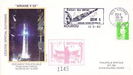 France Ariane V53 Enveloppes ESA - Europe
