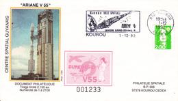 France Ariane V55 Enveloppes ESA - Europe