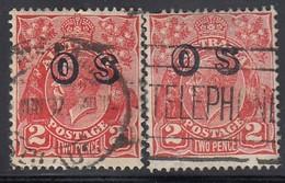 AUSTRALIEN Dienstpost 1915 - MiNr: 9 2x Aufdruck  Used - Dienstpost