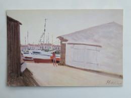 Carte Postale : 85 ILE D'YEU : Les Chantiers De Port Joinville, Huile De Paul Nassivet - Ile D'Yeu