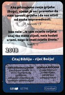 Pocket Calendar / Croatia 2018 / Read The Bible - The Word Of God - Calendars
