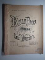 PARTITION BELLA BOCCA POLKA PIANO WALDTEUFEL TARDIVEAU 27 X 35 Cm Env - Musique & Instruments