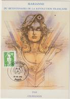 Carte-Maximum FRANCE N°Yvert 2718 (MARIANNE) Obl Sp Ill 1er Jour (Ed Nugeron) - 1990-99