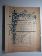 PARTITION GEORGES BULL PETITES FANTAISIES LES SENTIERS FLEURIS LE MIROIR DRAMATIQUE 27 X 35 Cm Env - Musique & Instruments